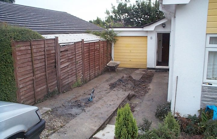 Ground Source Review: Bungalow, Mylor - Closed loop borehole 70m deep beneath the driveway