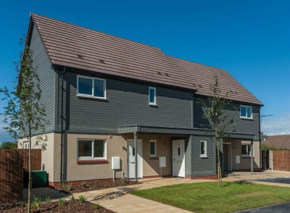 Tuckers Close ground source heat pump case study: semi detached houses on the close