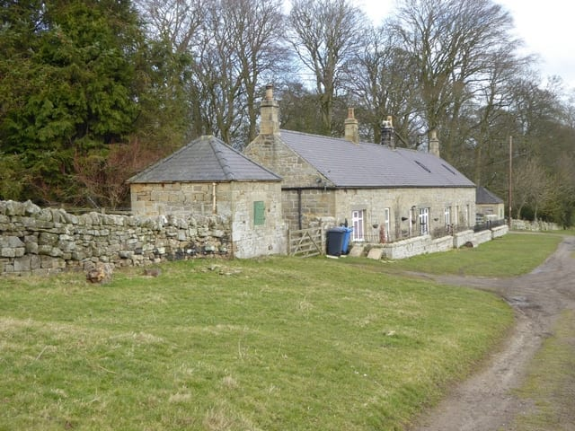 Farm buildings with ground source heat pump